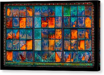 Strained Glass Window Canvas Print by Steven Maxx