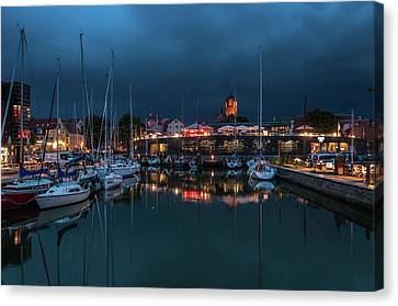 Stralsund At The Habor Canvas Print by Martina Thompson