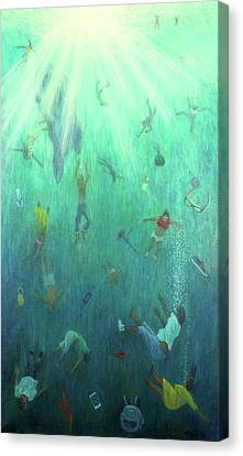 Sun Rays Canvas Print - Strange Fish by Tilly Willis