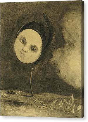 Creepy Canvas Print - Strange Flower  Little Sister Of The Poor by Odilon Redon