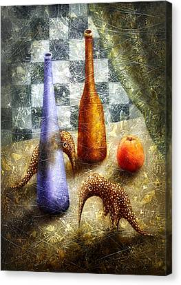 Strange Games On The Table Canvas Print