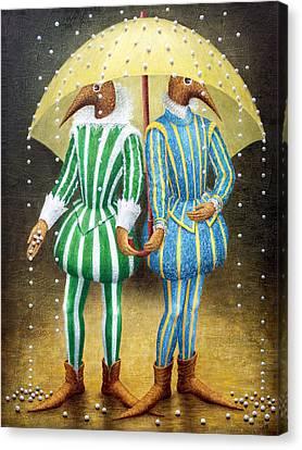 Strange Rain Canvas Print by Lolita Bronzini
