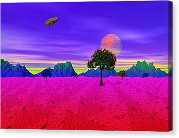 Strangely Place Canvas Print