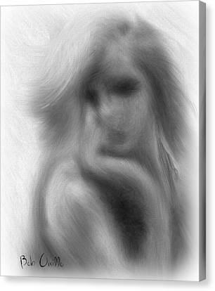 Monotone Canvas Print - Stranger At The Cafe by Bob Orsillo