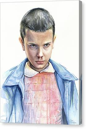 Stranger Things Eleven Portrait Canvas Print