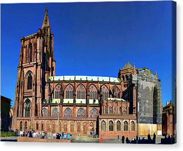 Strasbourg Catheral Canvas Print by Alan Toepfer