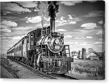 Canvas Print featuring the photograph Strasburg Canadian National 89 by Nick Zelinsky