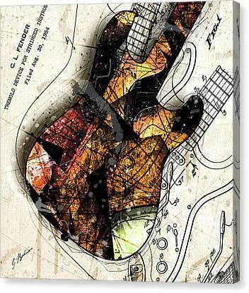 Strat Canvas Print - Strat Abstracta No. 4 Sunrise by Gary Bodnar