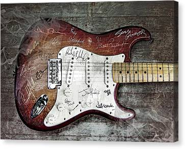 Autographed Art Canvas Print - Strat Guitar Fantasy by Mal Bray