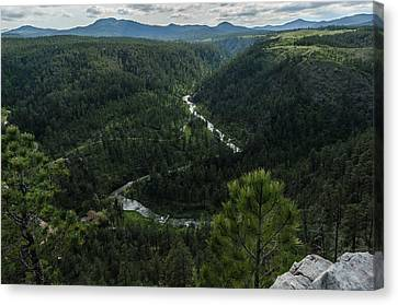 Stratobowl Overlook On Spring Creek Canvas Print