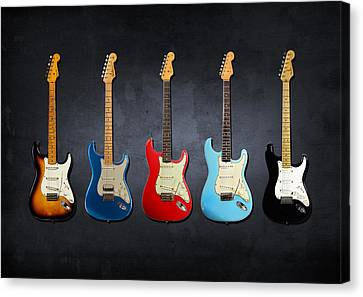 Guitar Canvas Print - Stratocaster by Mark Rogan