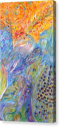 Canvas Print featuring the painting Stratosphere by Linda Cull