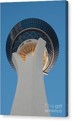 Stratosphere Tower Up Close Canvas Print by Andy Smy