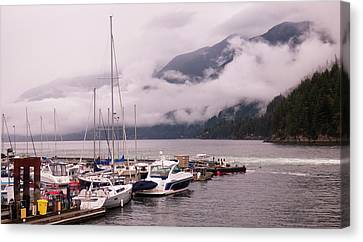 Stratus Clouds Over Horseshoe Bay Canvas Print