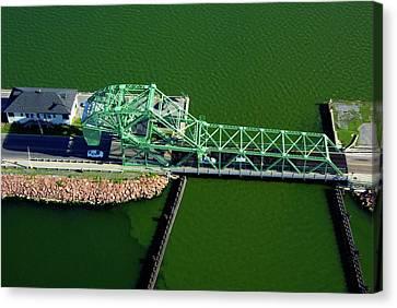 Strauss Trunnion Bascule Lift Bridge Canvas Print