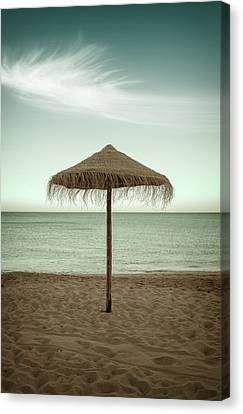 Canvas Print featuring the photograph Straw Shader by Carlos Caetano