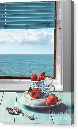 Venetian Blinds Canvas Print - Strawberries By The Sea by Amanda Elwell