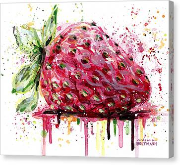 Strawberry 2 Canvas Print by Arleana Holtzmann