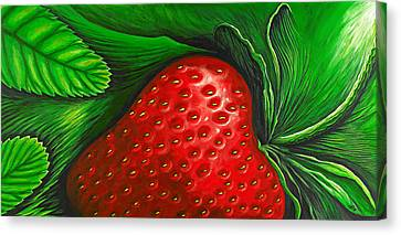 Strawberry Canvas Print by David Junod