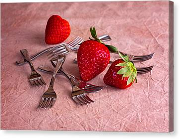 Strawberry Delight Canvas Print by Tom Mc Nemar
