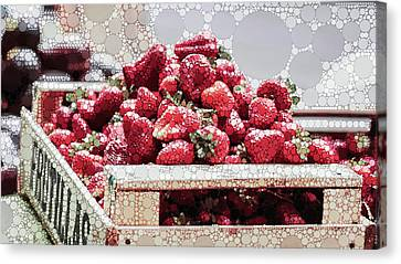 Farm Stand Canvas Print - Strawberry Fizz by Susan Maxwell Schmidt