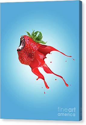 Canvas Print featuring the photograph Strawberry by Juli Scalzi