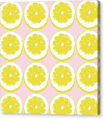 Strawberry Lemonade- Art By Linda Woods Canvas Print by Linda Woods