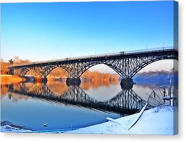 Strawberry Mansion Bridge  Canvas Print by Bill Cannon