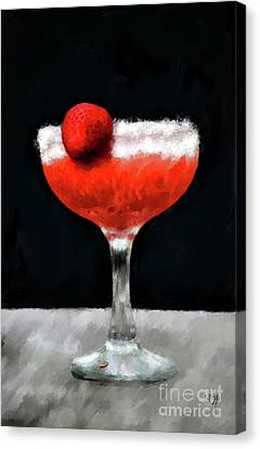 Canvas Print featuring the photograph Strawberry Margarita by Lois Bryan