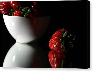 Strawberry Canvas Print by Michael Ledray