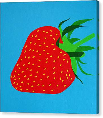 Strawberry Pop Canvas Print by Oliver Johnston
