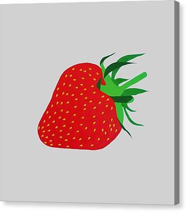 Strawberry Pop Remix Canvas Print by Oliver Johnston