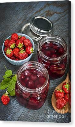 Strawberry Preserve Canvas Print by Elena Elisseeva