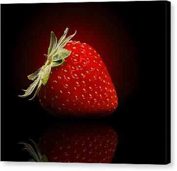 Strawberry Sensuality Canvas Print by Georgiana Romanovna