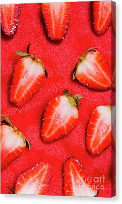 Chopped Canvas Print - Strawberry Slice Food Still Life by Jorgo Photography - Wall Art Gallery