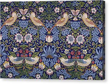 Tapestries - Textiles Canvas Print - Strawberry Thief by William Morris