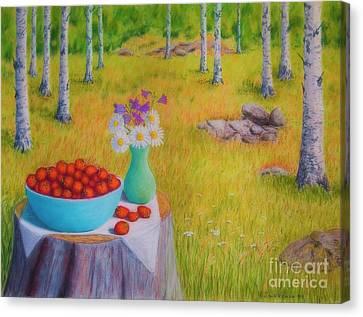 Strawberry Time Canvas Print by Veikko Suikkanen