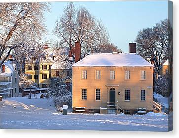 Strawbery Banke In Portsmouth Canvas Print by Eric Gendron