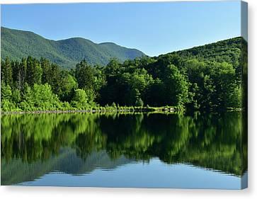 Streak Of Light At The Lake Canvas Print