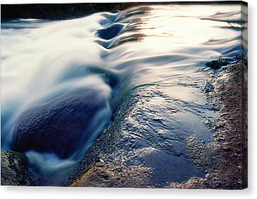Canvas Print featuring the photograph Stream 4 by Dubi Roman