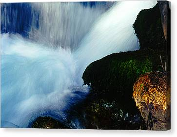 Canvas Print featuring the photograph Stream 5 by Dubi Roman