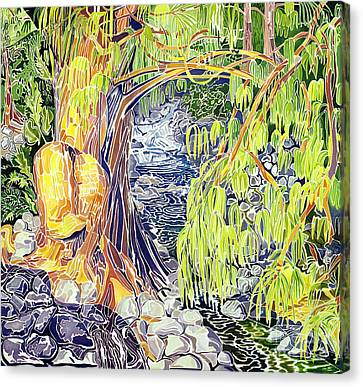 Overhang Canvas Print - Stream At Laupahoehoe by Fay Biegun - Printscapes