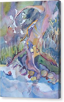 Stream Bed In Spring Canvas Print by Patricia Bigelow