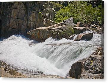 Canvas Print featuring the photograph Stream In Yosemite National Park by Matthew Bamberg