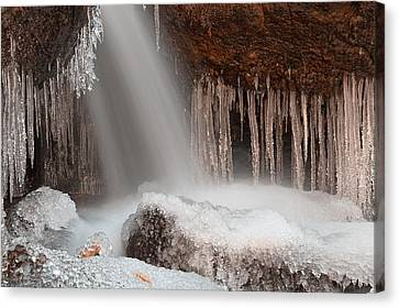 Stream Of Frozen Hope 2 Canvas Print