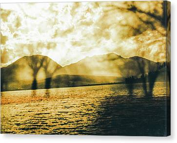 Streaming Above The Water Canvas Print by Paul Shefferly