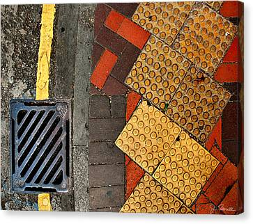 Grate Canvas Print - Street Abstract by Joe Bonita