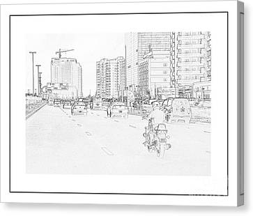 Street Activities Canvas Print by Hussein Kefel