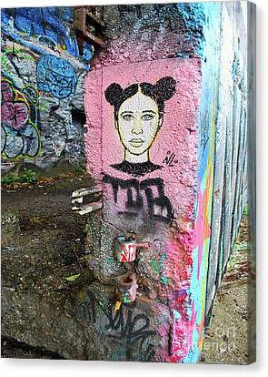 Canvas Print featuring the photograph Street Art by Bill Thomson