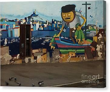 Street Art Le Panier Canvas Print